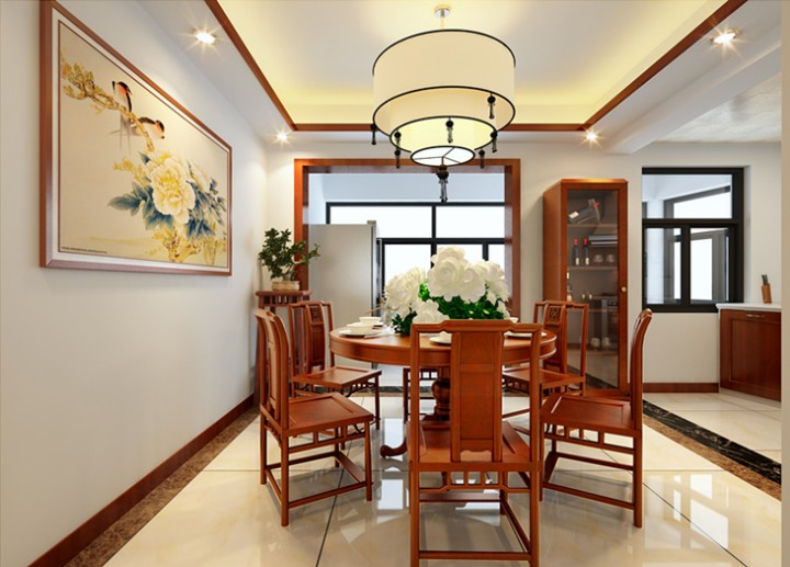 中式装修效果图—摩尔豪庭
