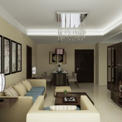 中式装修效果图—恒盛豪庭